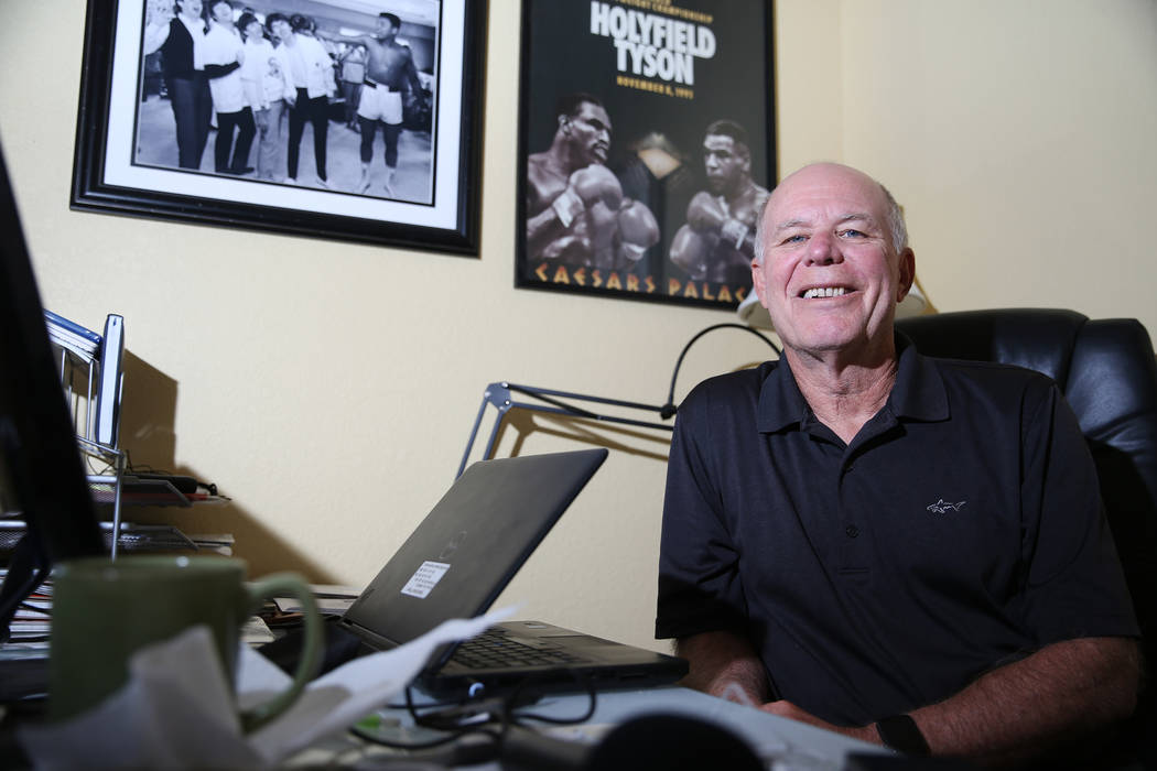 Tim Dahlberg, national sports columnist for the Associated Press, at his Las Vegas home, Thursday, Sept. 27, 2018. Dahlberg is scheduled to be inducted to the Nevada Press Association Hall of Fame ...