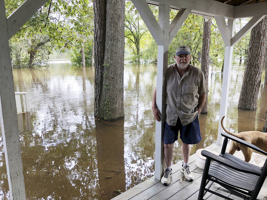 Pastor Willie Lowrimore of The Fellowship With Jesus Ministries talks about the flooding of his church in Yauhannah, S.C., on Monday, Sept. 24, 2018. The church is on the bank of the Waccamaw Rive ...