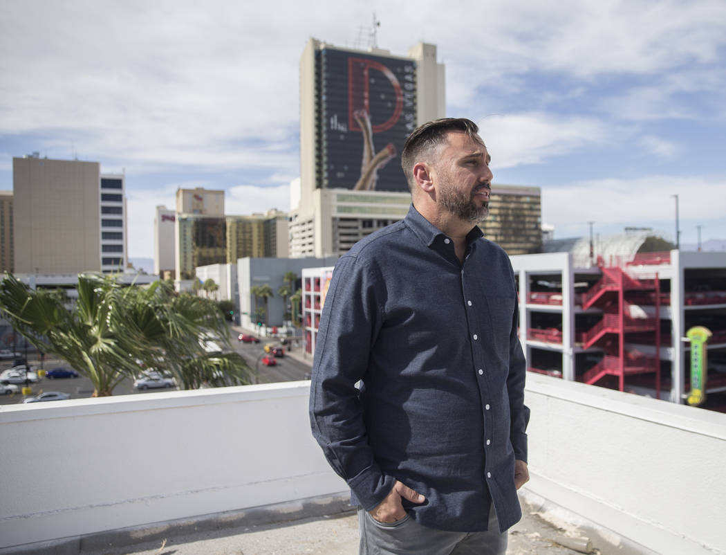 Developer J Dapper discusses his plans for his newly acquired property at 201 Las Vegas Blvd. on Monday, Sept. 24, 2018, in Las Vegas. Benjamin Hager Las Vegas Review-Journal @benjaminhphoto