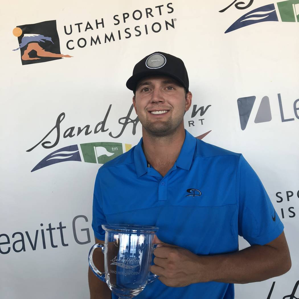 Former UNLV golfer Taylor Montgomery won the 2018 Sand Hollow Leavitt Group Open in Hurricane, Utah, and a spot in the 2019 Web.com Utah Championship.