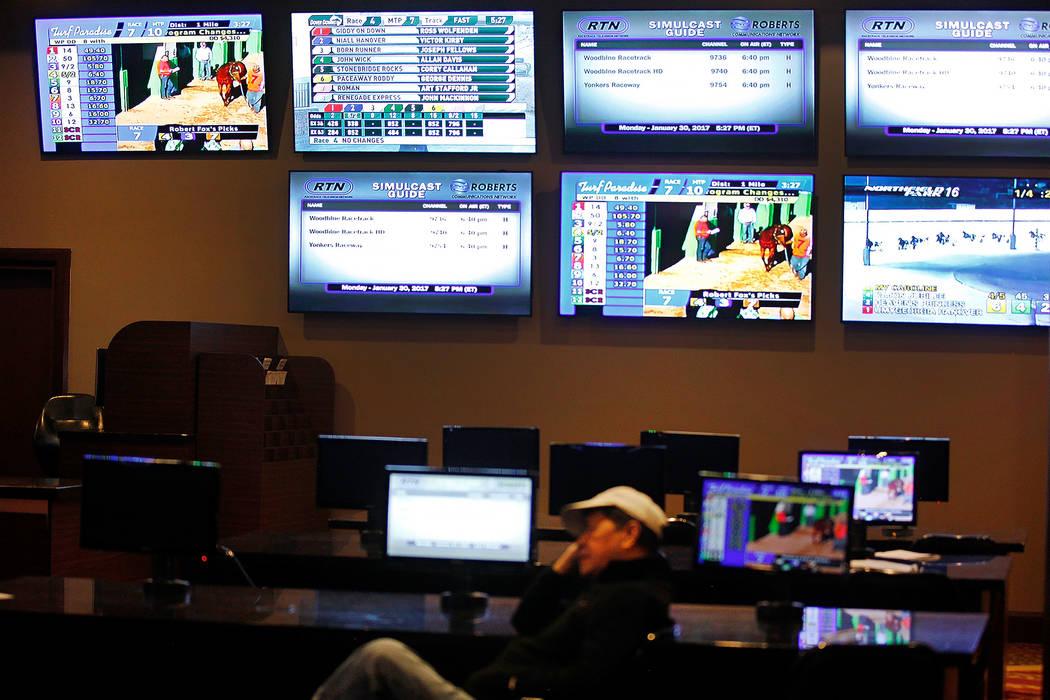 The Stratosphere Race & Sportsbook at the Stratosphere hotel-casino on Monday, Jan. 30, 2017, in Las Vegas. (Rachel Aston/Las Vegas Review-Journal) @rookie__rae