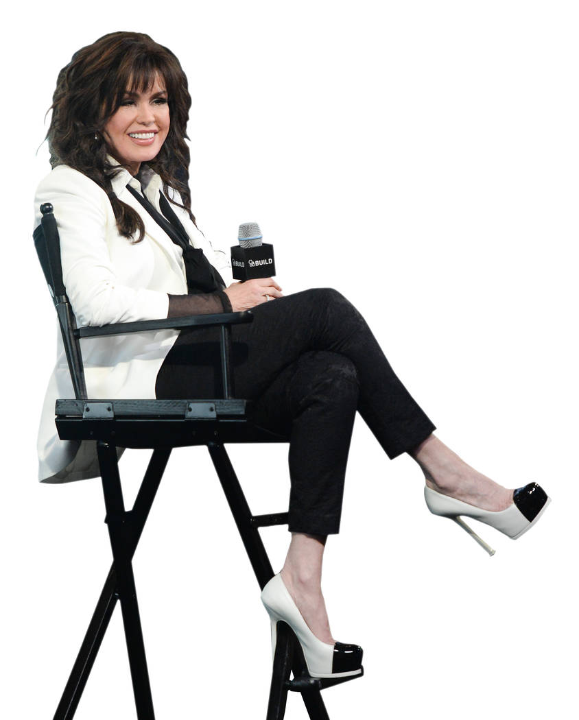 """Singer Marie Osmond participates in AOL's BUILD Speaker Series to discuss her new album """"Music is Medicine"""", at AOL Studios on Friday, April 15, 2016, in New York. (Photo by Evan Agostini/Invision/AP)"""