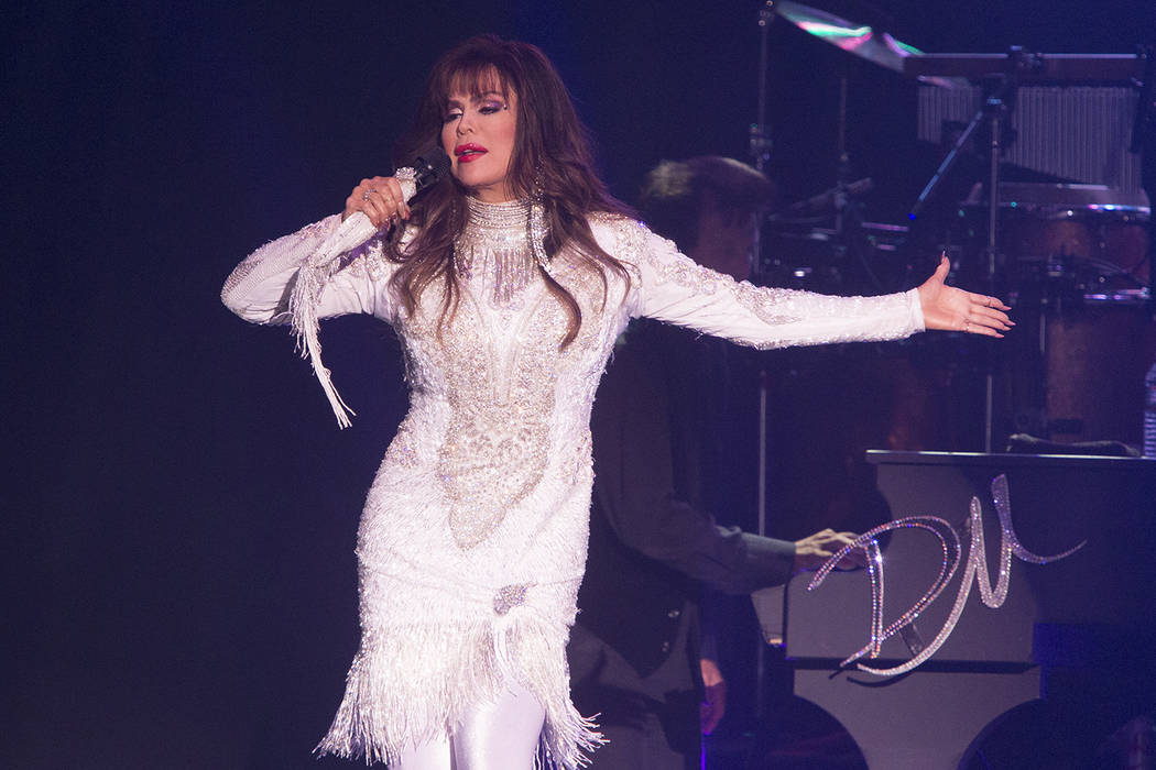 Marie Osmond performs in concert as Donny and Marie Osmond at the Santander Arena on Tuesday, Aug. 22, 2017, in Reading, Pa. (Photo by Owen Sweeney/Invision/AP)