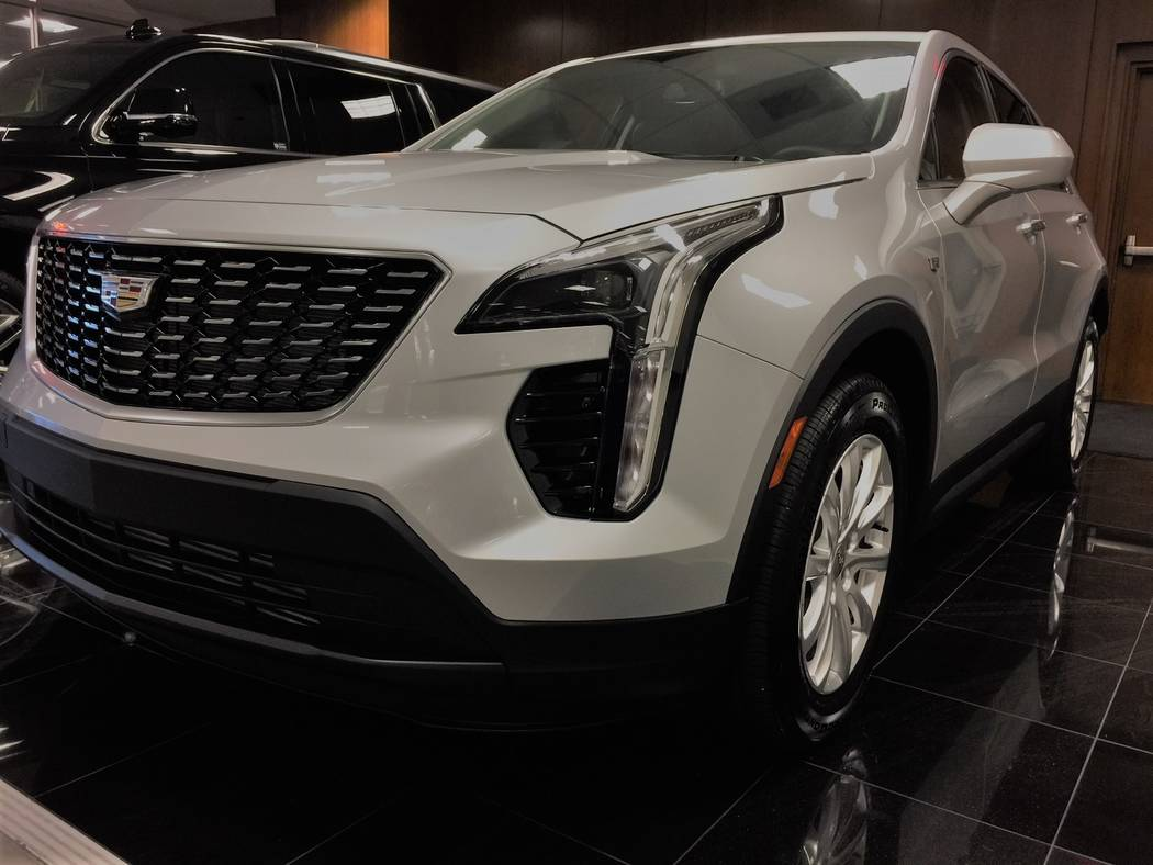 Denise and James Donnan of Las Vegas purchased this 2019 Cadillac XT-4 Crossover, an hour after the car was delivered to Findlay Cadillac in the Valley Automall. The sale marked the first XT-4 sol ...
