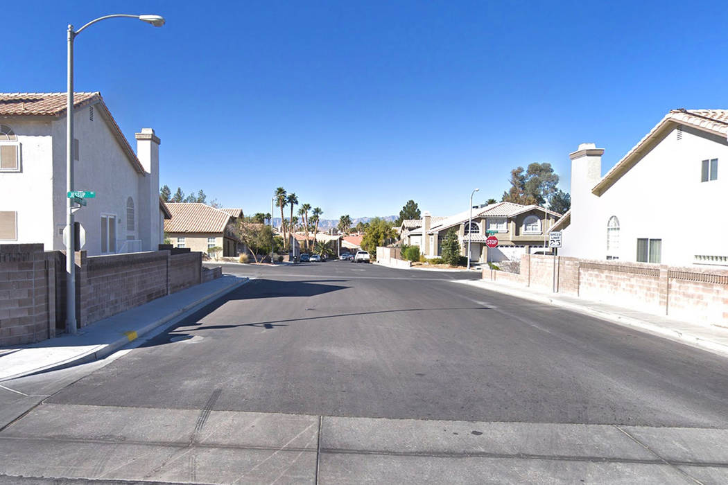 Via Bel Mondo Street in Henderson is pictured in this Google Street View image.