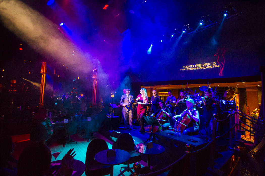 The David Perrico Pop Strings Orchestra performs at Cleopatra's Barge at Caesars Palace in Las Vegas on Friday, March 3, 2017. (Chase Stevens/Las Vegas Review-Journal) @csstevensphoto
