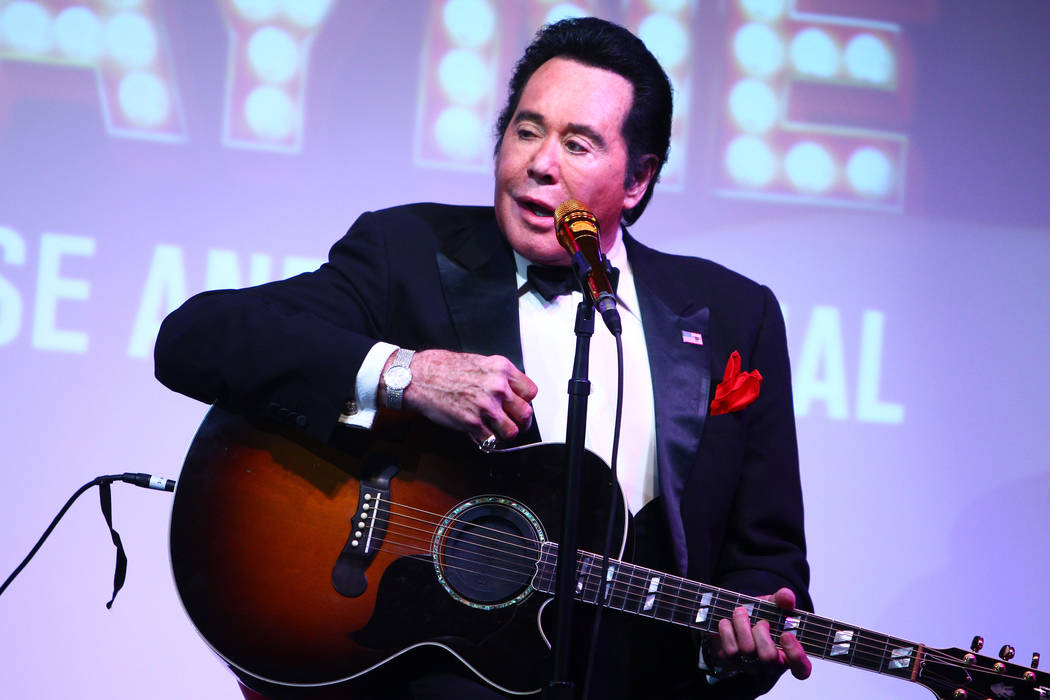 """Wayne Newton sings during his show """"Up Close And Personal"""" on Thursday, June 16, 2016, at the Bally's hotel-casino in Las Vegas. Loren Townsley/Las Vegas Review-Journal Follow @lorentownsley"""