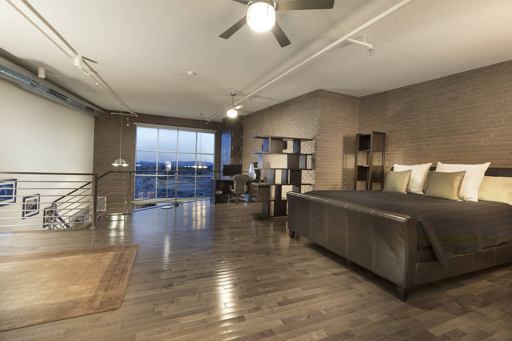 This 2,256-square-foot condo at C2 Lofts features a large master suite. (Christopher Homes)