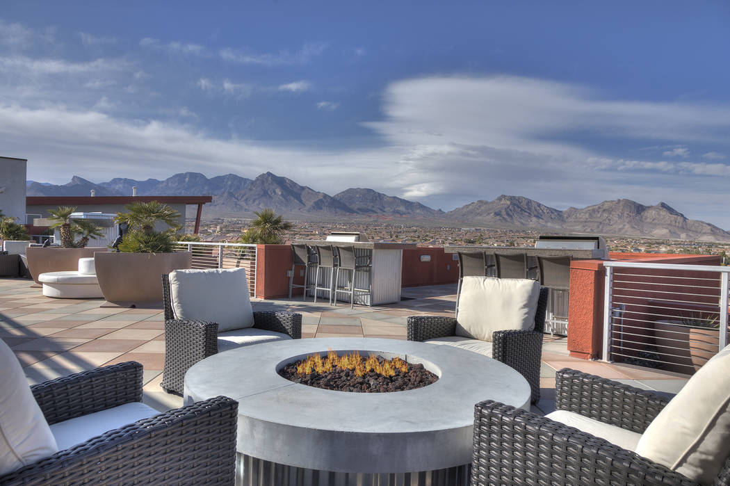 C2 Lofts, by Christopher Homes, in Summerlin provides amenities and views of the Spring Mountains. (Christopher Homes)