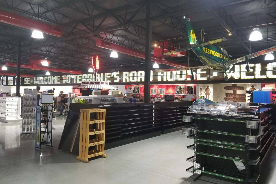 Inside the Terrible's Road House is seen in Jean, Nev., Friday, June 29, 2018. Local gas station operator Terrible Herbst plans to open a 50,000-square-foot travel center in Jean in the next few w ...