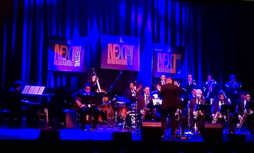 Dave Loeb leads the UNLV Jazz Ensemble 1 at the Monterey Next Generation Jazz Festival on April 1, 2017. (Courtesy UNLV)