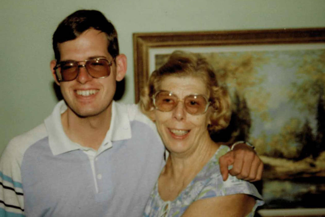Dorothy Sargent poses with her son, Keith Sargent, in 1987. Las Vegas police have closed the case in her death after discovering the suspect, Dino Marks, died in 2014. (Keith Sargent)
