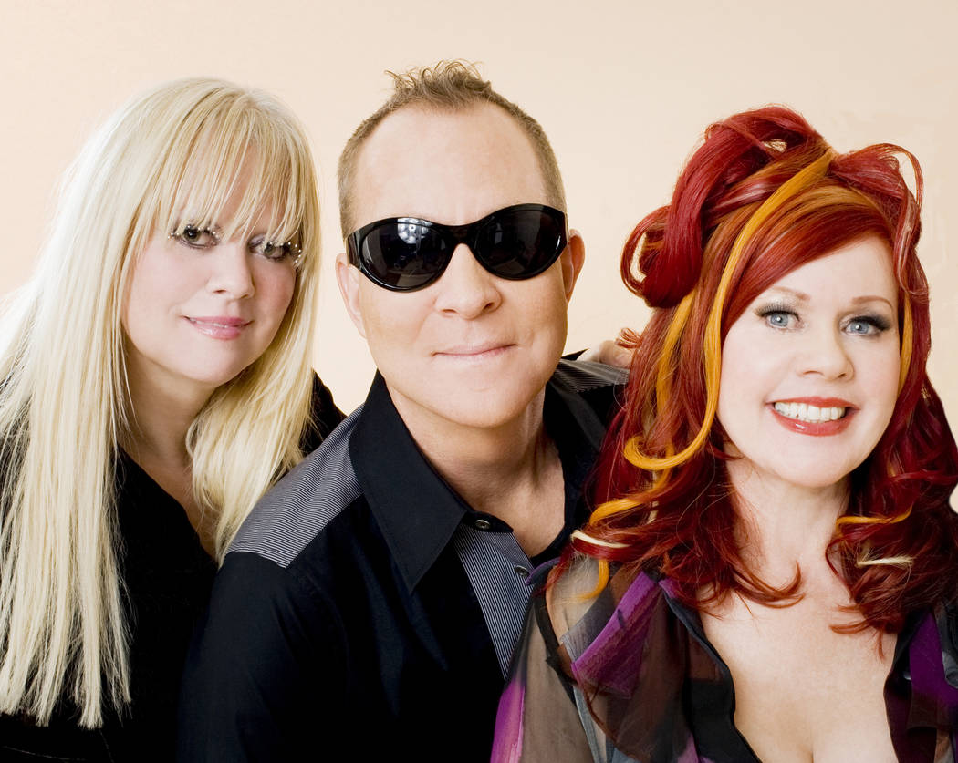 Founding members of The B-52s, shown in a promotional photo as they perform Friday, Saturday and Sunday at House of Blues at Mandalay Bay, from left: Cindy Wilson, Fred Schneider and Kate Pierson. ...