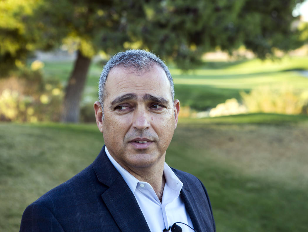 Yohan Lowie, CEO and founder of EHB Companies, views the landscape at Badlands Golf Course on Wednesday, Oct. 9, 2016. EHB Companies are planning on building the controversial, high-density develo ...