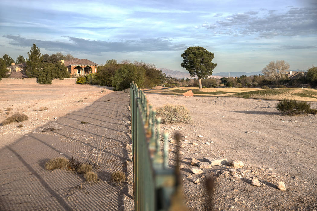 The proposed development on the Badlands golf course has prompted a more than year-long fight between the developer and neighboring residents. Photo taken on Wednesday, Feb. 1, 2017, at the gate d ...
