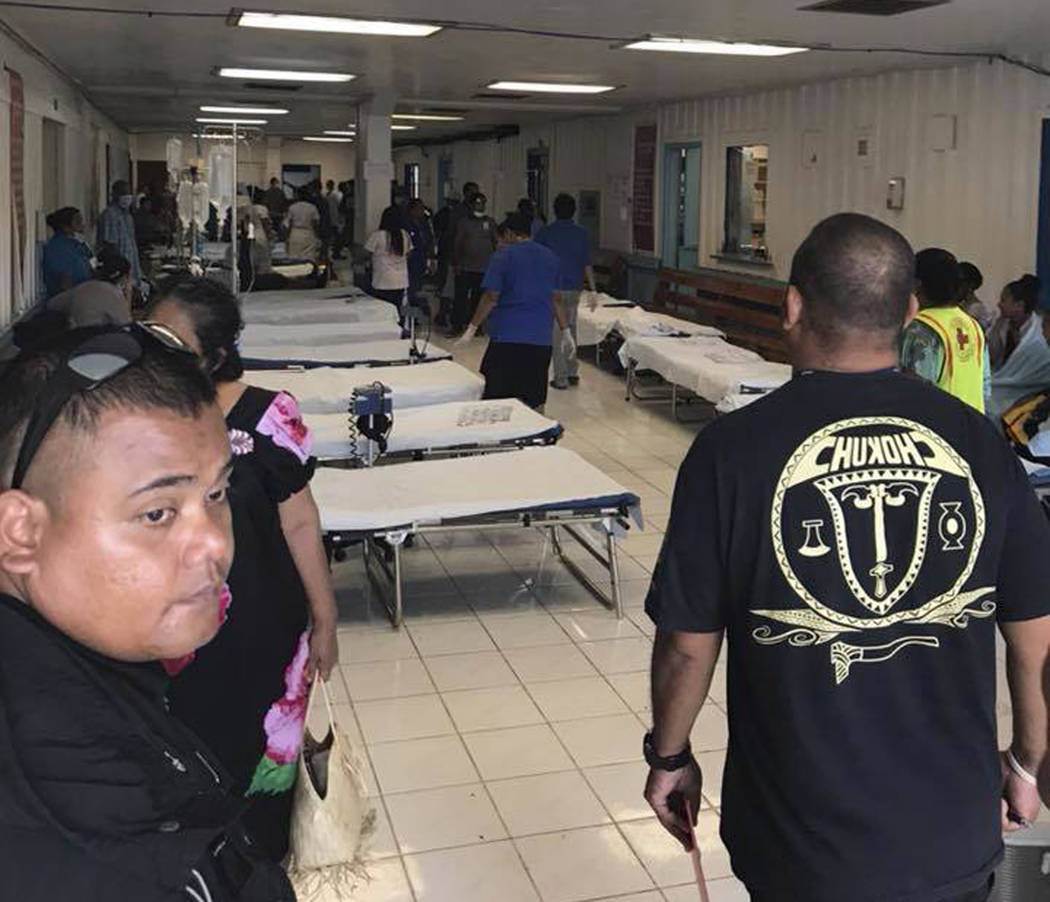 This image provided by Matthew Colson shows beds at a hospital after an Air Niugini plane has crash landed in a Pacific lagoon, near Chuuk Airport in Chuuk Island, Federated States of Micronesia, ...