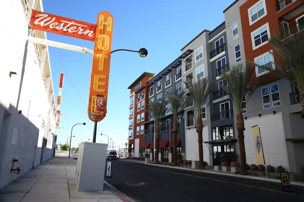 Fremont9, a new apartment complex in downtown Las Vegas at Fremont and Ninth streets in Las Vegas, Tuesday, Sept. 18, 2018. Erik Verduzco Las Vegas Review-Journal @Erik_Verduzco