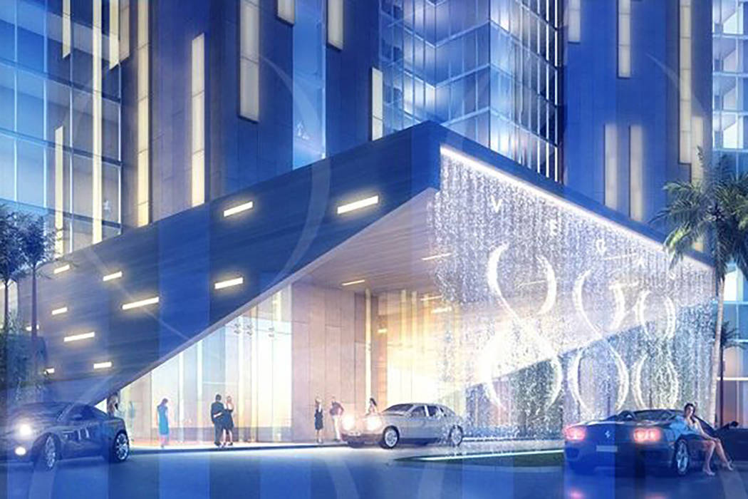Florida developer Chris DelGuidice laid out plans during mid-2000s for Vegas 888, a 50-story condo tower shown in the above rendering. It was one of many high-rise projects from that era to never ...