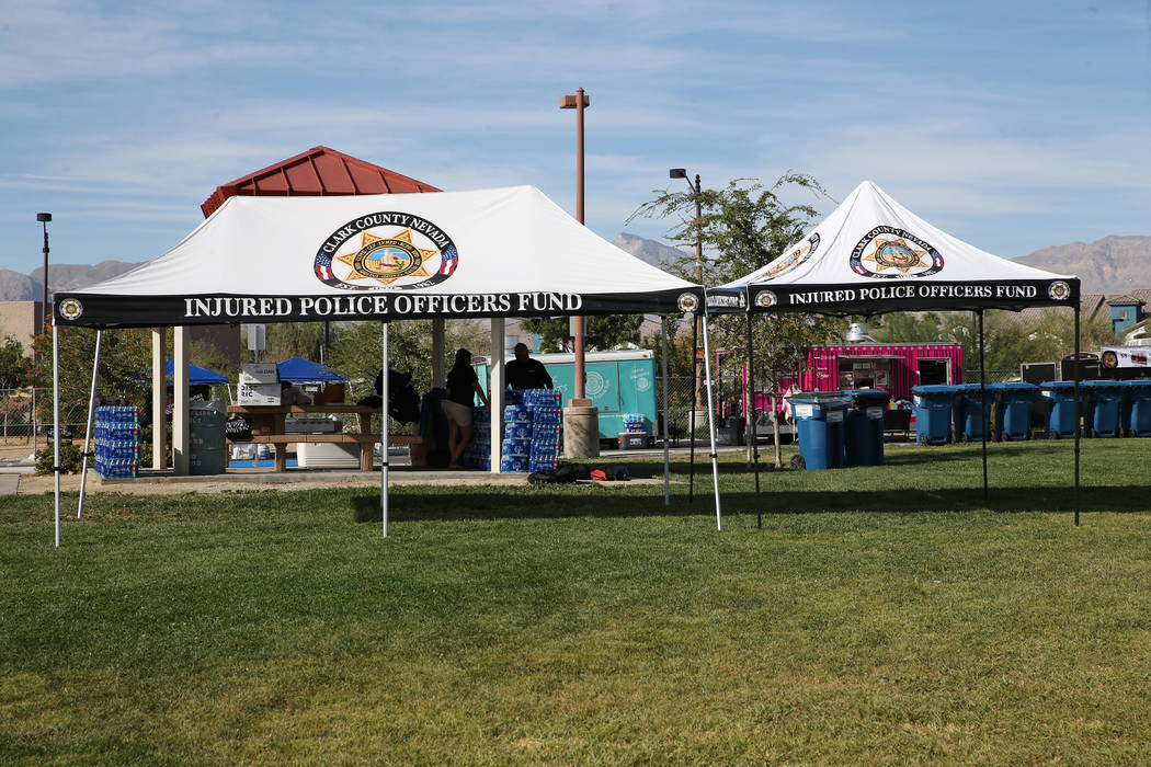 A private reunion for those who attended the Route 91 Harvest festival concert last year, at Centennial Hills Park in Las vegas, Saturday, Sept. 29, 2018. Erik Verduzco Las Vegas Review-Journal @E ...