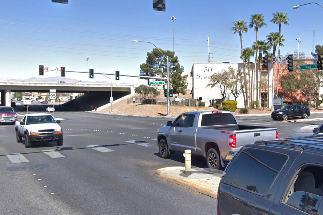 The 100 block of South Jones Boulevard, near U.S. Highway 95. Google Street View image.