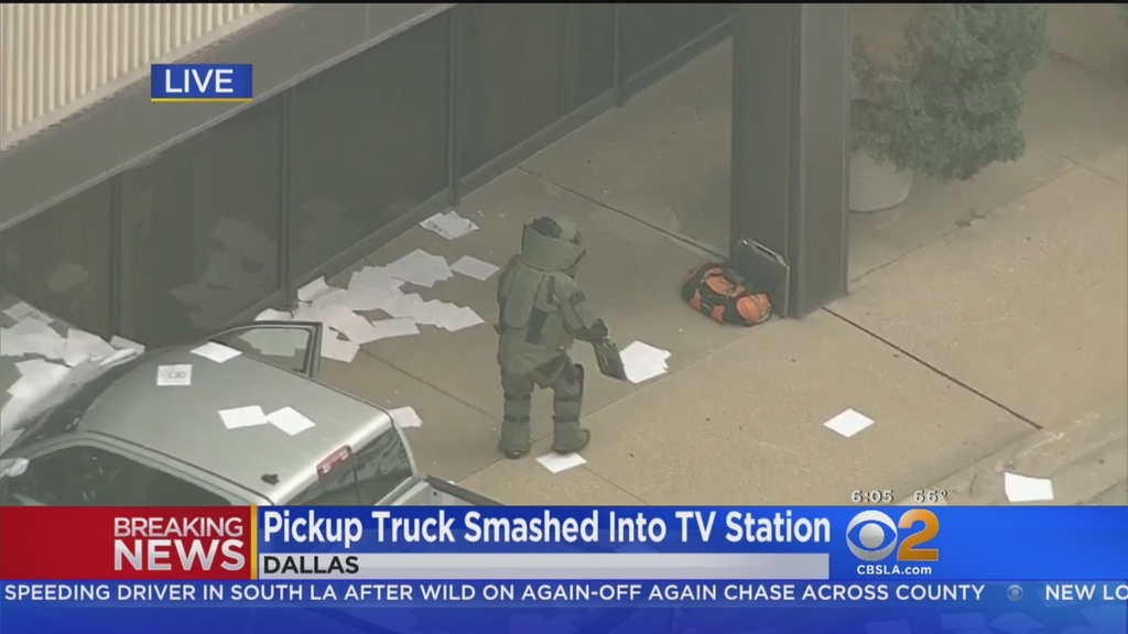 Ranting Man Crashes Pickup Into Tv Station During Broadcast East