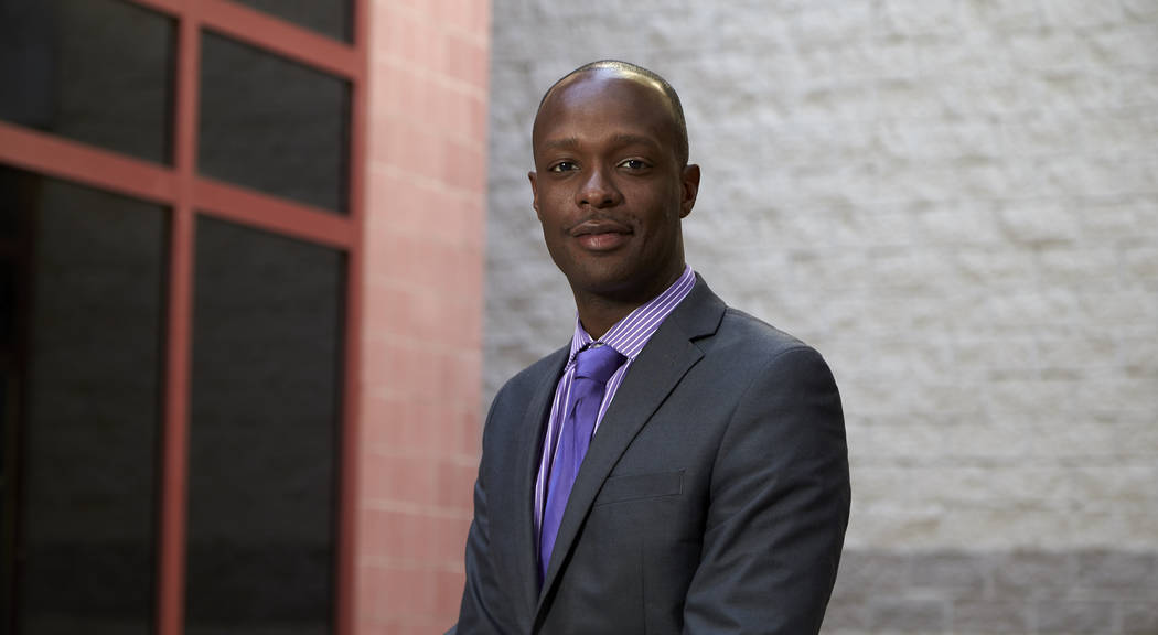 Barrett Morris, Director of Compliance for New Faces feature on September 1, 2015. (R. Marsh Starks / UNLV Photo Services)