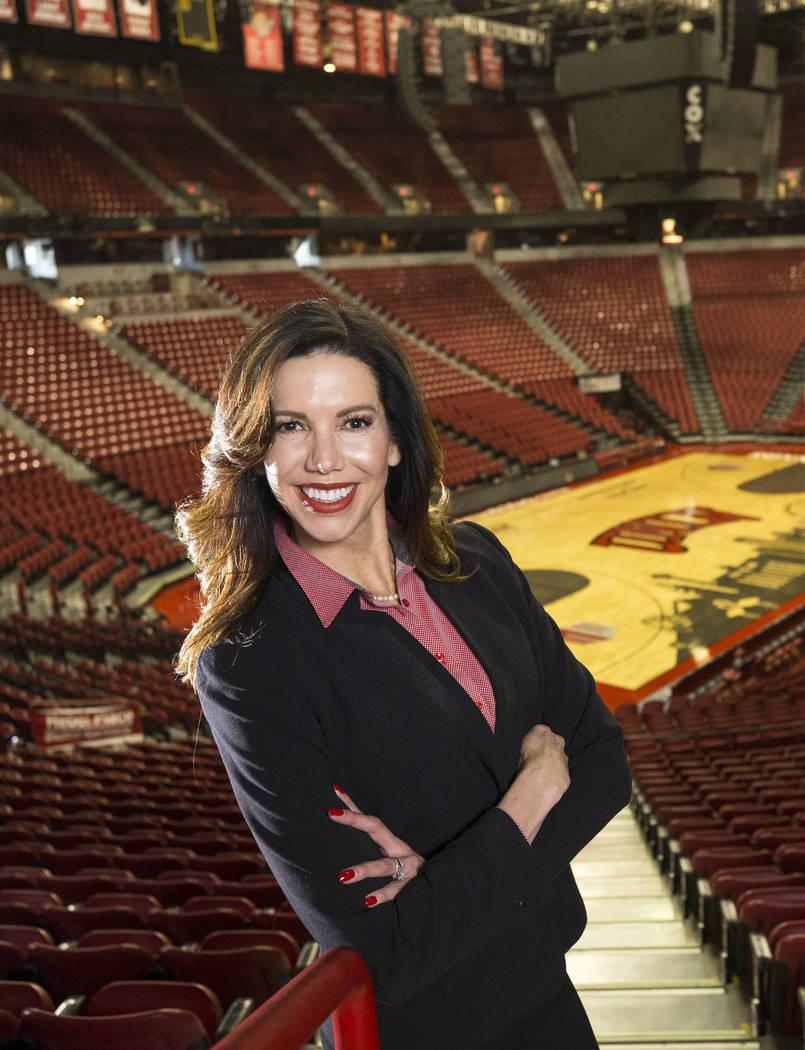 UNLV's athletic director Desiree Reed-Francois poses at the Thomas & Mack Center on Thursday, Nov. 30, 2017. Richard Brian Las Vegas Review-Journal @vegasphotograph