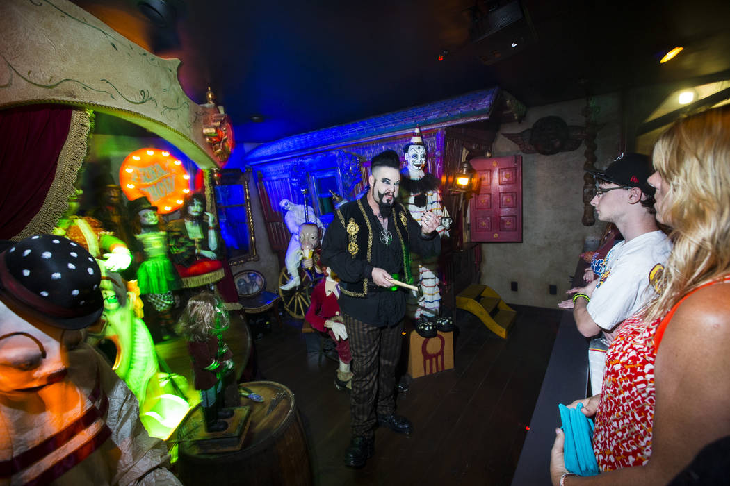 John Shaw performs for guests at Zak Bagans' Haunted Museum in Las Vegas on Saturday, Aug. 18, 2018. Chase Stevens Las Vegas Review-Journal @csstevensphoto