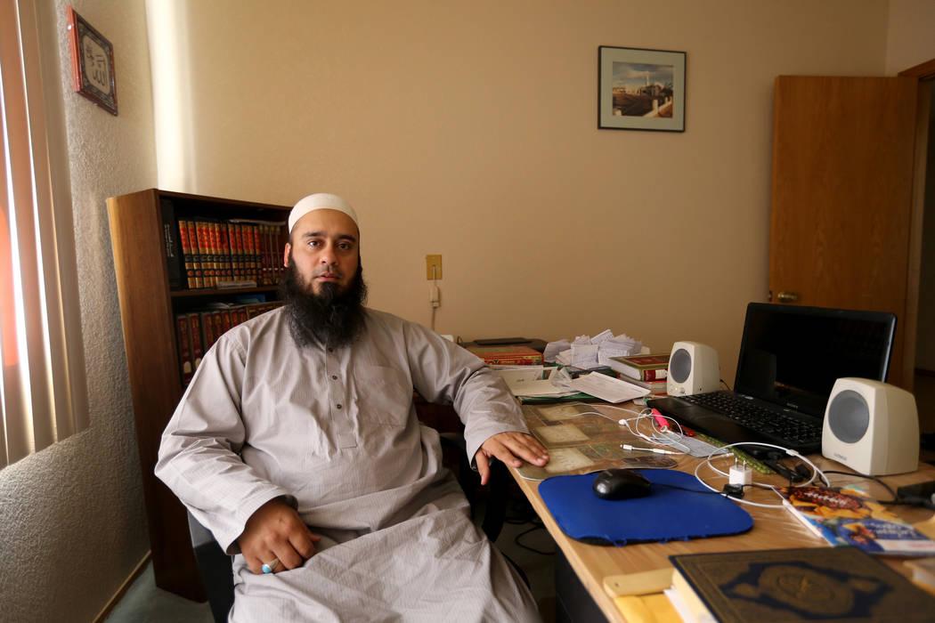 Imam Umar Farooq Mahmood at Masjid Ibrahim mosque in Kingman, Ariz. Wednesday, Sept. 12, 2018. K.M. Cannon Las Vegas Review-Journal @KMCannonPhoto