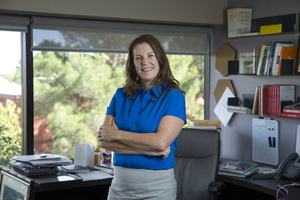 Safe Nest CEO Liz Ortenburger at her office in Las Vegas on Wednesday, Oct. 3, 2018. Richard Brian Las Vegas Review-Journal @vegasphotograph