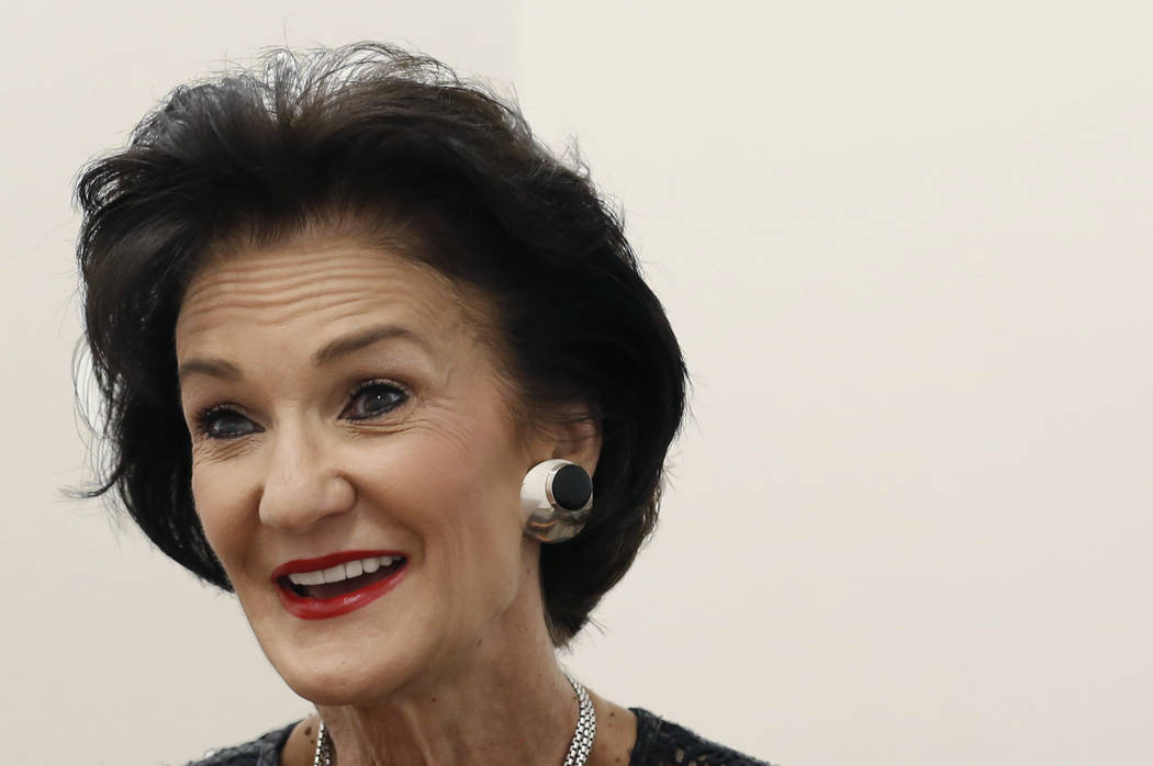 Mari Landers, vice president and general manager of the Saks Fifth Avenue at Fashion Show, speaks during an interview with the Las Vegas Review-Journal on Thursday, Sept. 6, 2018, in Las Vegas. (B ...