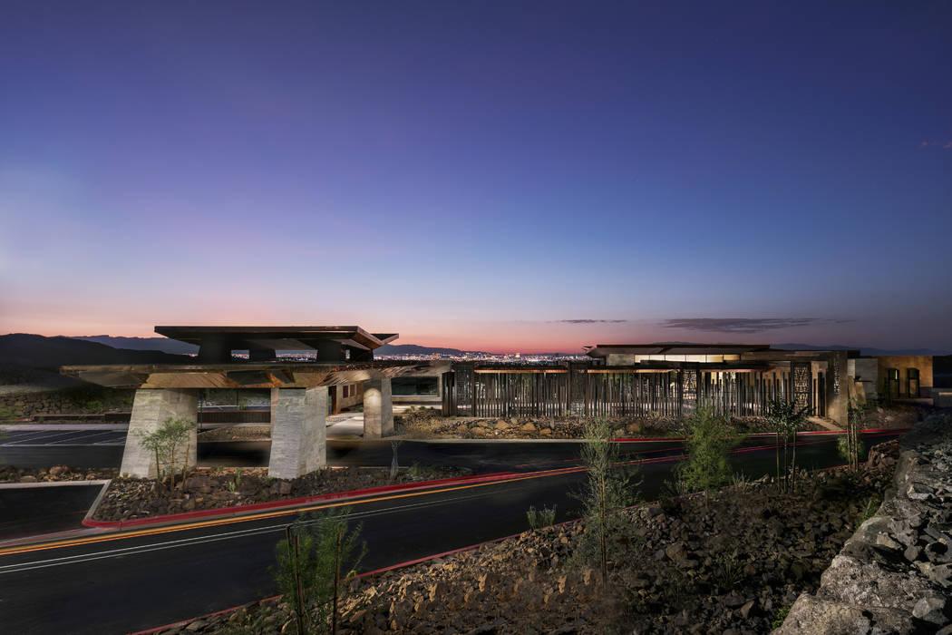 Ascaya's entrance has views of the Las Vegas Strip. (Ascaya)