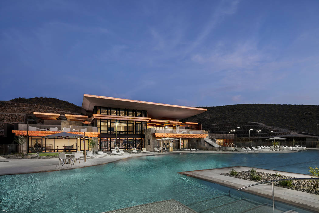 The $25-million, private clubhouse in Ascaya is the social hub of the luxury Henderson residential community. (Ascaya)