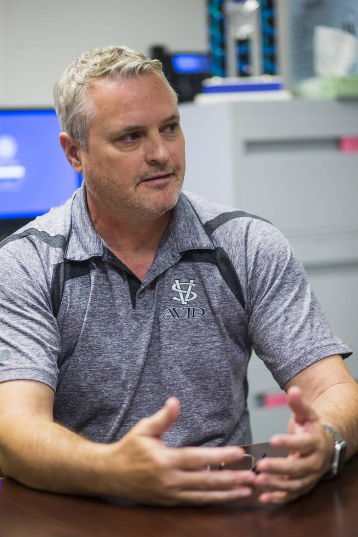 Spring Valley High School Principal Tam Larnerd talks about the school's grading system in Las Vegas on Wednesday, Aug. 22, 2018. Chase Stevens Las Vegas Review-Journal @csstevensphoto