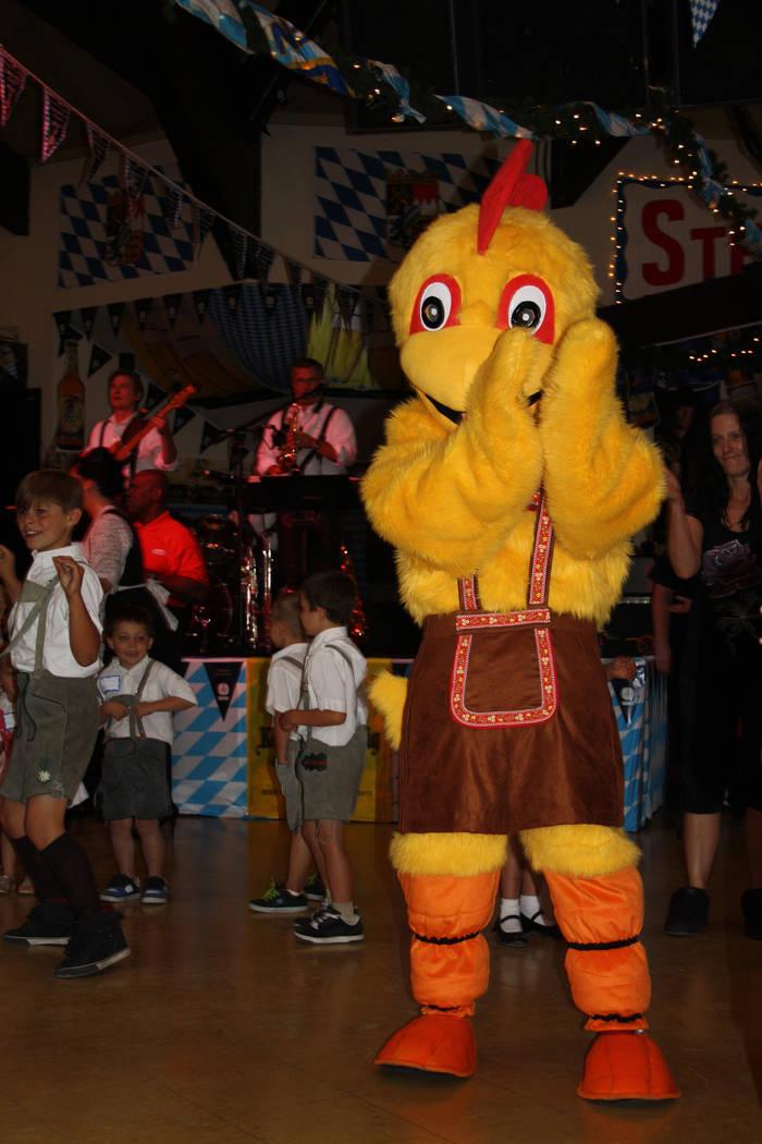 The Chicken Dance is everyone's favorite at Oktoberfest. (Deborah Wall/Las Vegas Review-Journal)