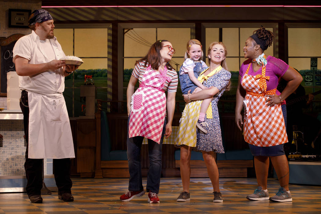 Ryan G. Dunkin and the Cast of the National Tour of WAITRESS Credit Joan Marcus 0385r