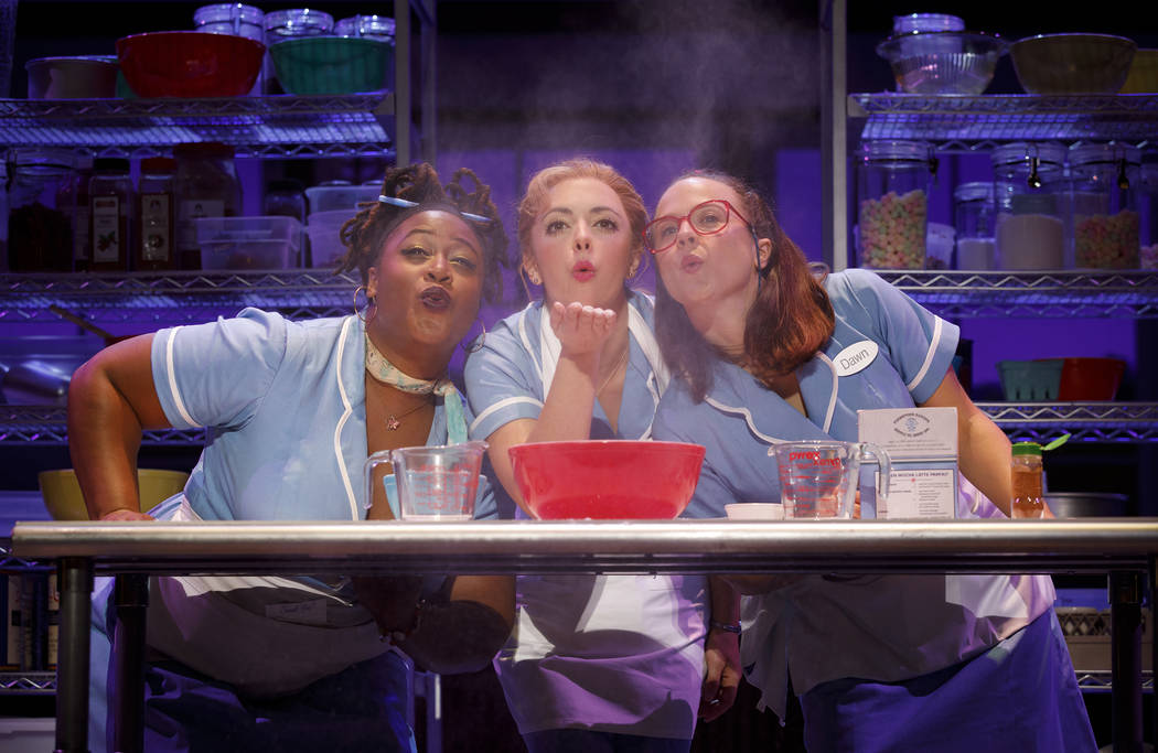 Charity Angel Dawson, Desi Oakley and Lenne Klingaman in the National Tour of WAITRESS Credit Joan Marcus 0769r