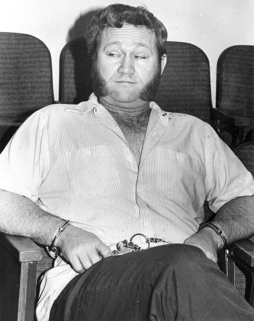 Jerald Burgess in cuffs in 1981. (File Photo)