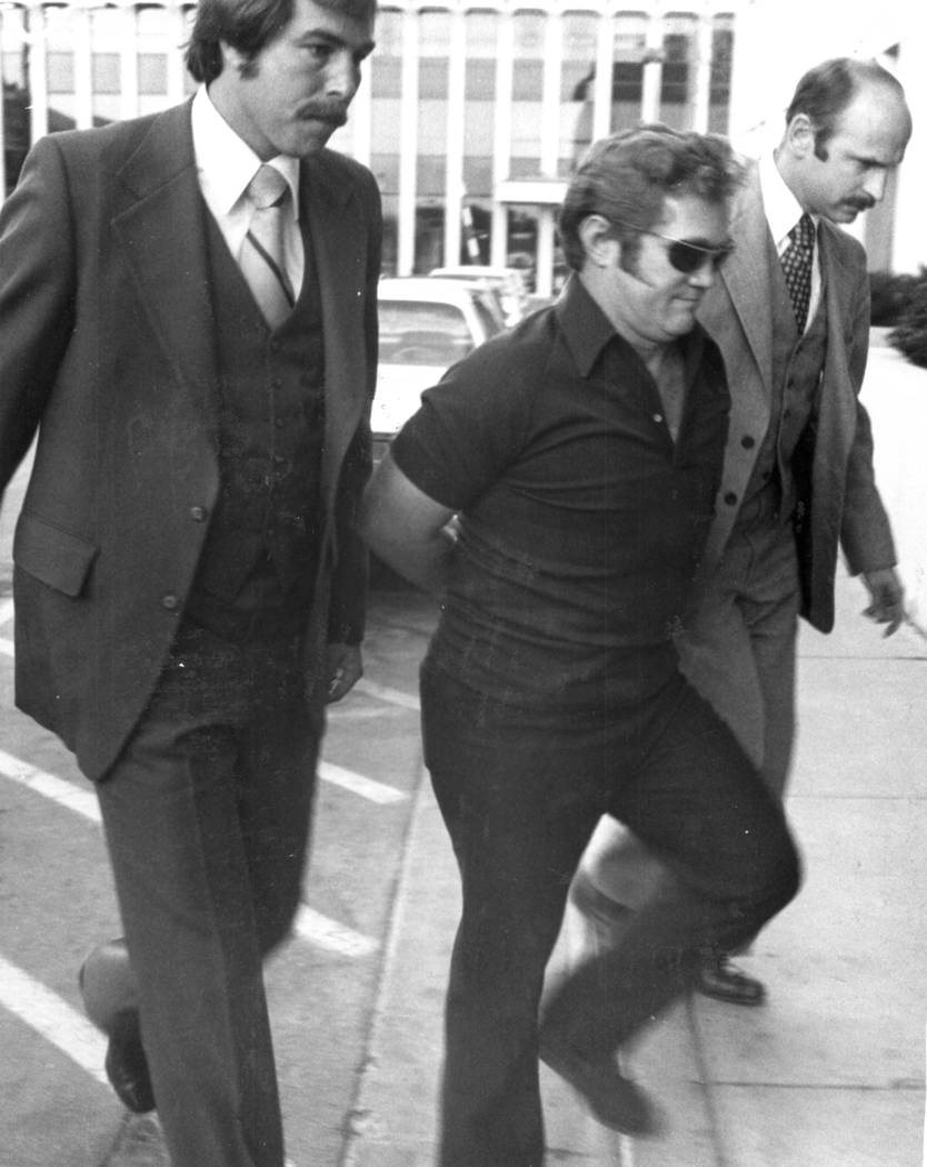 Jerald Burgess escorted into court in 1982. (File Photo)