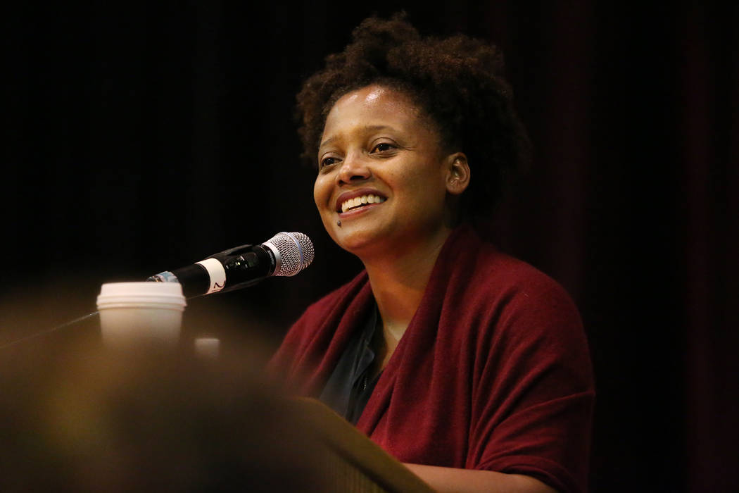 U.S. Poet Laureate Tracy K. Smith during the Poetry Promise Reading Series at the Winchester Cultural Center in Las Vegas, Saturday, Sept. 29, 2018. Erik Verduzco Las Vegas Review-Journal @Erik_Ve ...