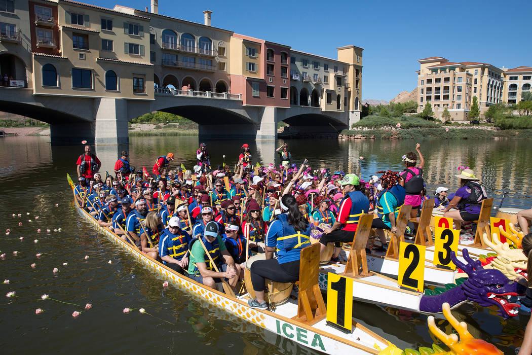 The 10th annual Rose Regatta Dragon Boat Festival will be held Saturday at Lake Las Vegas.