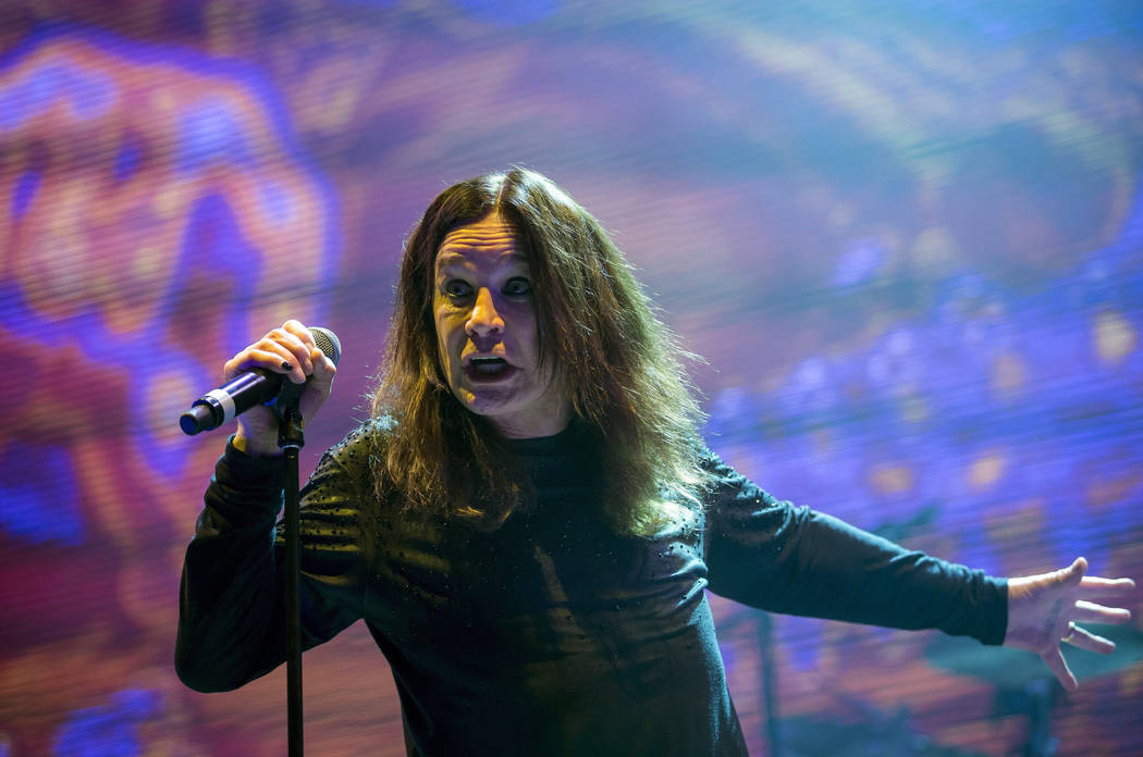 Singer Ozzy Osbourne performs during the concert of the English rock band Black Sabbath in Papp Laszlo Budapest Sports Arena in Budapest, Hungary, Wednesday, June 1, 2016. The Hungarian capital is ...