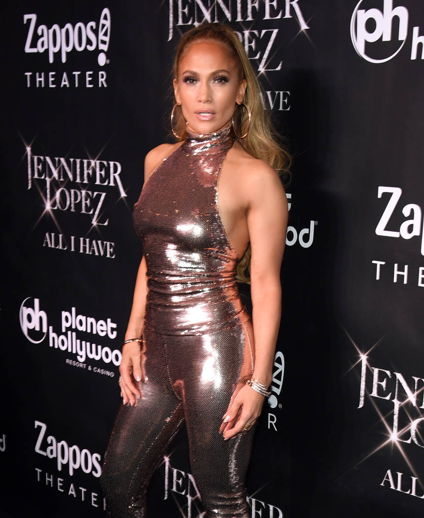 "LAS VEGAS, NV - SEPTEMBER 30: Jennifer Lopez attends the after party for the finale of the ""JENNIFER LOPEZ: ALL I HAVE"" residency at MR CHOW at Caesars Palace on September 30, 2018 in L ..."