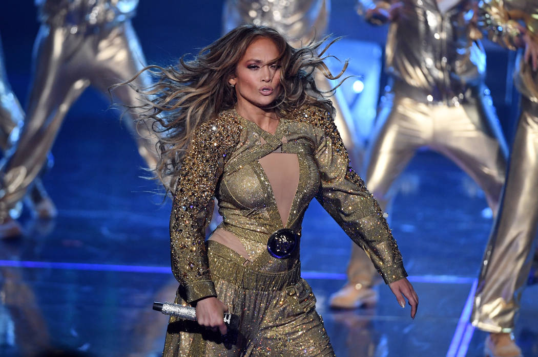 """LAS VEGAS, NV - SEPTEMBER 29: Jennifer Lopez performs during the finale of her residency, """"JENNIFER LOPEZ: ALL I HAVE"""" at Zappos Theater at Planet Hollywood Resort & Casino on Septe ..."""