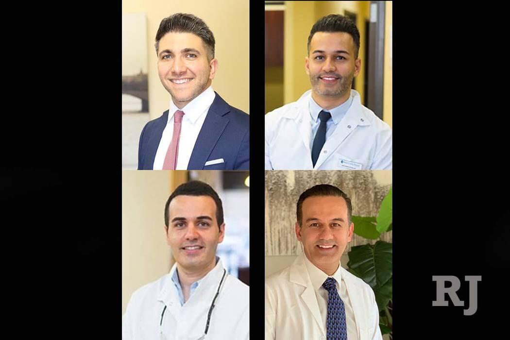 Clockwise from top left: Saman Edalat, Poria Edalat, Ali Badkoobehi and  Sina Edalat