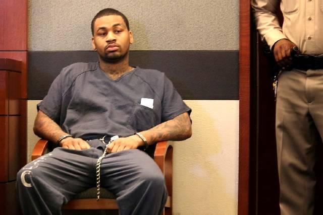 Ammar Harris is seen in Clark County Justice Court in 2013. (Las Vegas Review-Journal)