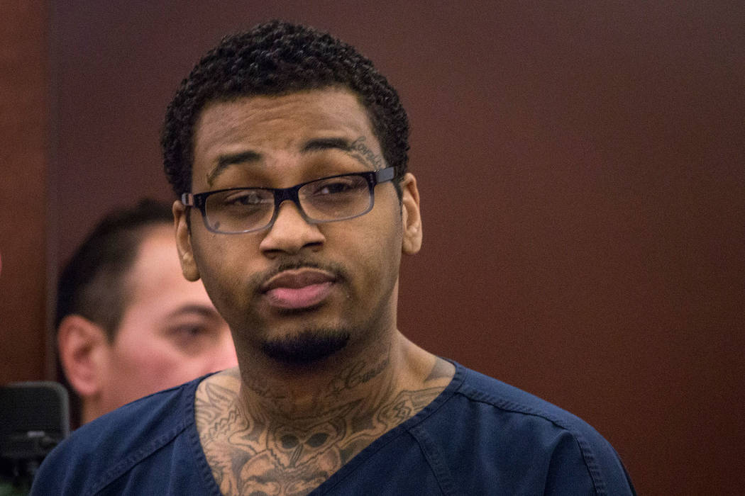 Ammar Harris, shown in court on Feb. 26, 2014. (Las Vegas Review-Journal)