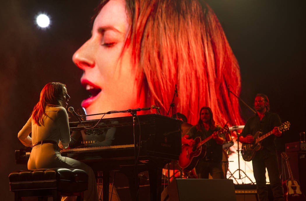 "LADY GAGA as Ally and BRADLEY COOPER as Jack in the drama ""A STAR IS BORN,"" from Warner Bros. Pictures, in association with Live Nation Productions and Metro Goldwyn Mayer Pictures, a Warner Bros. ..."