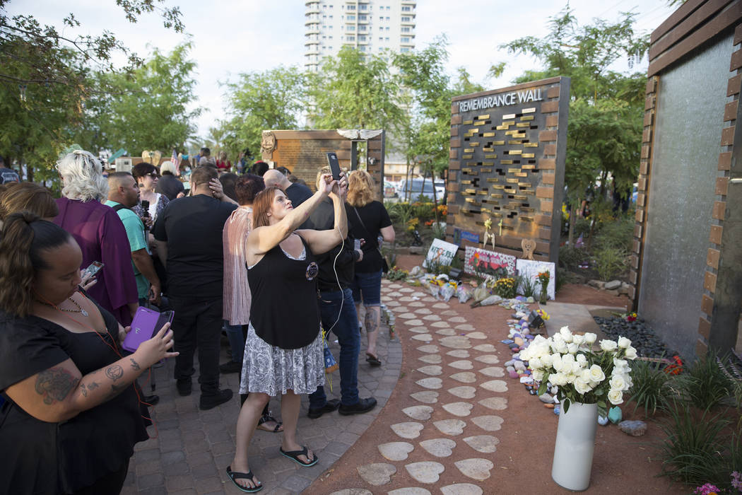 Remembrance Wall Dedicated At Las Vegas Community Healing Garden