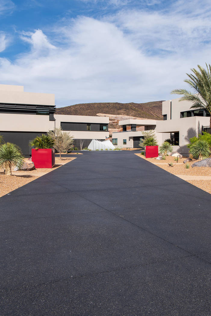 This 16,000-square-foot home is in MacDonald Highlands, a luxury residential community in Henderson. (Simply Vegas)